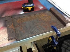 Rusty bottom fan cover