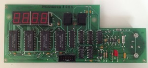 The maintenance panel PCB