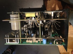 The assembled power supply stack from the side.