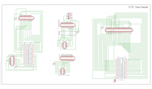 Completed EAGLE schematic of the I/O harness.